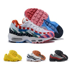 Wholesale Stylish Women Men Sneaker Running Shoes Discount Fashion Red Yellow Blue Black White Colorful Pink Air Shoes For People