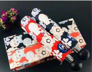 Wholesale Hot sale Arrival Classic CC Logo Women Automatic Shade Umbrella Fashion Cartoon cat pattern Beach umbrella Carry gift Box VIP Gift