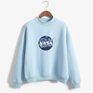 Wholesale Hoodie NASA series letter pullover sweater Street Sport Mens Designer Hoodies Loose Fit Pullover Sweatshirt For Sale