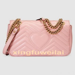 Wholesale Fashion Women Shoulder Bags Classic Leather Heart Style Gold Chain New Women Bag Handbag Tote Bags Messenger Handbags