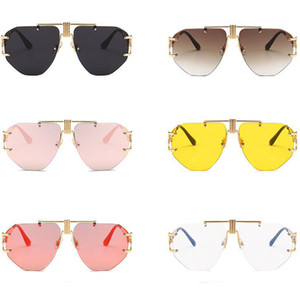 Wholesale Tide Brand Eyeglasses Fashion Goggles New Modern Retro Sunglasses European And American Trend Street Shot Ocean Film Sunglasses