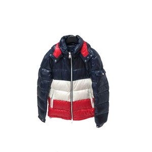 Wholesale Mens Designer Down Coat Luxury Letters Thick Clothes Fashion Windproof Hooded Jackets Winter Warm Outdoor Coats Size M XL Y02