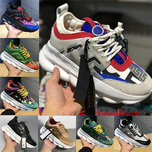 Wholesale 2019 Chain Reaction Luxury Designer Shoes Men Women Sneakers Snow Leopard Blue Mesh Rubber Leather Fashion Casual Shoes Running Trainers