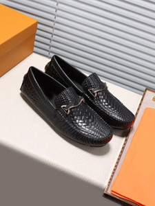 Wholesale Original Box Fashion Men Doug LowCut Loafers Casual Shoes Gommino Genuine Leather Designer Drive Party Wedding Dress Shoes SZ38 we
