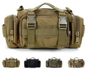 Outdoor nylon multi-function pockets D5 column shoulder camouflage Messenger bag three-use pockets handbags plug-in combination package on Sale