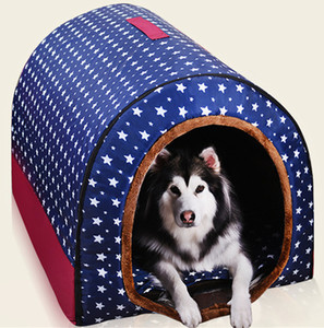 ingrosso cuccioli d'oro retrievers-Pet Big Dog House completamente lavabile Pet Kennel Cilindro portatile Dog House Golden Retriever Kennel del gatto del cucciolo Cage Bed