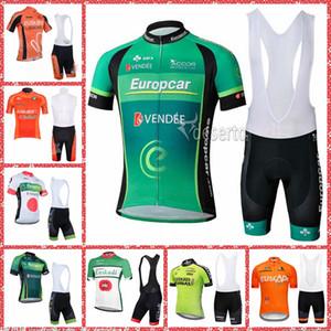 2019 EUROPCRA Euskadi EUSKALTEL team Cycling Short Sleeves jersey bib shorts sets Maillot Ropa Windproof Cheap M30710