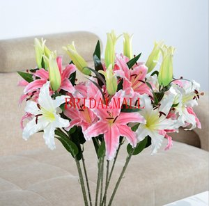 Wholesale lily artificial flowers home decoration wedding bouquets handmade flower Artificial flowers wedding supplies cheap