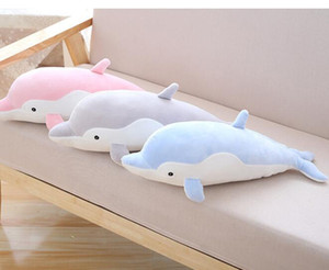 Wholesale Large Ocean Stuffed Dolphin Hugging Animal Pillows Plush Toys Girls Gifts quot