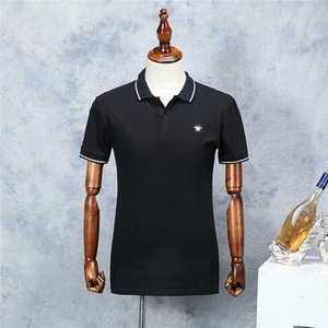 Wholesale 19ss New Arrival Men Luxury Polo Shirt Fashion Pattern Designer Black Short Sleeve Summer Straight Cotton Polos Male Size M XXL Colors
