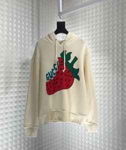 Wholesale 2019 spring new fashion luxury mens designer beatiful Strawberry Fashion Printed hoodies high quality designer hoodies ZDL