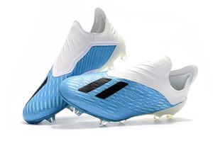 Wholesale Hot X FG Football Boots SKELETALWEAVE X Tango TF FG Men Soccer Shoes Indoor Outdoor White Blue Soccer Shoes
