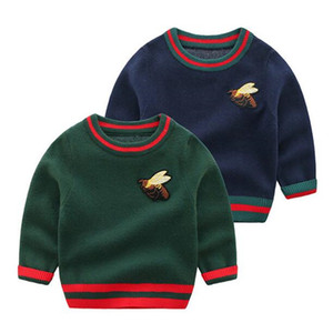 Wholesale New Autumn Winter Baby Boys Sweaters Cute Cartoon Animals O neck Collar Kids Pullover Children Outwear Coat Clothes