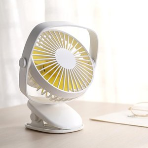 Wholesale DSstyles New Fashion Gadget Mini Fan Mute USB Fan Charging Small with Clip for Baby Carriage Drop Shipping