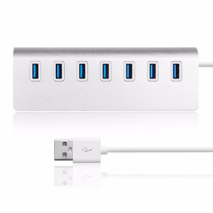 Wholesale pro hub for sale - Group buy Premium Port Chargers Aluminum USB Hub for Mac for MacBook Air Pro Ultrabooks for Microsoft Surface RT Laptops and any PC