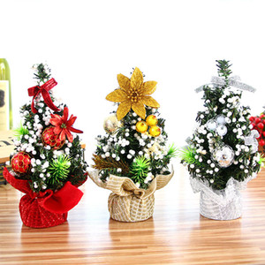 Wholesale Christmas Tree cm New Year Table Decoration Ornaments Merry Christmas Decorations for Home Xmas Trees Mini Small Pine