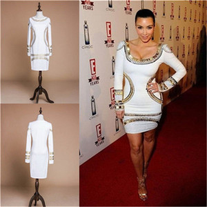 cheapest high quality scoop with long sleeves sheath Celebrity Dresses Cheap Prom Cocktail in Stock LF034 on Sale