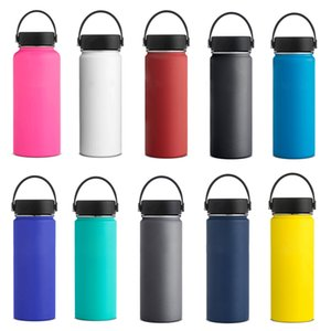 Wholesale Vacuum Insulated Water Bottles oz oz oz Stainless Steel Flask Double Wall Sports Travel Big Capacity Drinking Bottle Mugs Cup with Lid