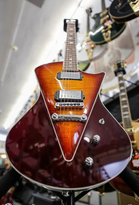 ingrosso nuova chitarra su ordinazione-NUOVO negozio Ernie Ball Music Man Armada Diviso Sunburst chitarra elettrica V bookmatched Flame Maple top HH Humbucking Pickups