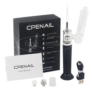 Authentic CPENAIL Vape Pen Starter Kit 1100mAh Dab Rig GR2 Pure Titanium Portable Wax Vaporizer Ceramic Quartz Electric H E Nail Glass bongs