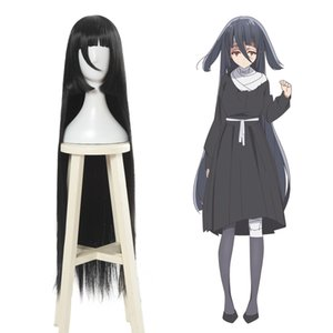 Zombieland Saga Yamada Tae Long Straight Black Cosplay Wig Women Anime Hair 39""