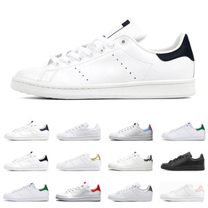 Wholesale stan smiths for sale - Group buy 2020 smith men women flat sneakers green black white navy blue oreo rainbow stan fashion mens trainer outdoor sports shoes size