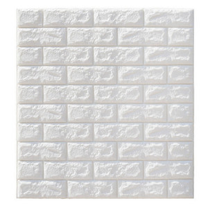Wholesale Clearance 6mm Pe Foam 3d Wallpaper DIY Wall Stickers Wall Decor Embossed Brick Stone Wallpaper Room House 70 X 77 Poster