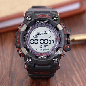 Wholesale Men PRW Sports Electronic chronograph wristwatch G Mens Big Dial Digital waterproof LED male shockproof Wrist Watches