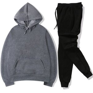 designer Tracksuit Fashion Men Sportswear Two Piece Sets All Cothoodieton Fleece Thick +Pants Sporting Suit Male fleece hoodie