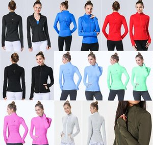 Wholesale 2019 Athletica women yoga classic stride Jacket Design fanatics Trackers Collar Sport Access Running Yoga Assembly Break Light Back clothing