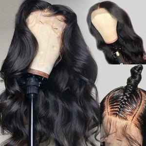Wholesale wigs resale online - 360 Lace Frontal Wig Full Lace Wigs Lace Front Human Hair Wigs Brazilian Body Wave Wig For Black Women Fairgreat Human Hair