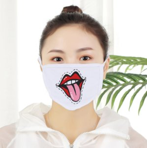 DHL Free Blank Sublimation Double Layers Face Mask Dust Prevention Polyester Adults Kids DIY Gifts Thermal Transfer