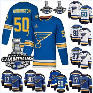 2019 Stanley Cup Final Champions 90 Ryan O Reilly 27 Alex Pietrangelo 10 Brayden Schenn 91 Vladimir Tarasenk0 Binnington Hockey Jerseys on Sale