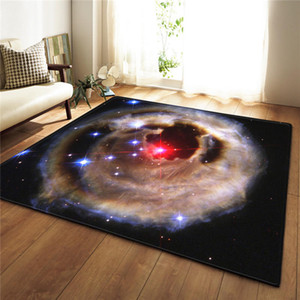 Wholesale Nordic Carpet D Print Area Rug Parlor Galaxy Space Bedroom Mat Rug Anti slip Large Carpet Floormat Living Room Home Decor