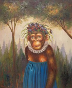 Wholesale forest impressionist painting for sale - Group buy e Animal Monkey in the Forest Top Handpainted Handcrafts Art Oil Painting HD Print Art Oil Painting On Canvas Wall Pictures