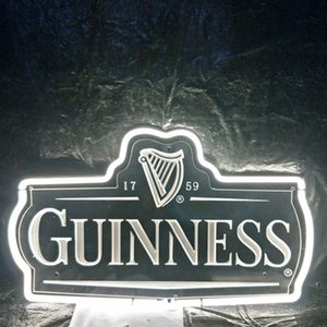 Wholesale Custom Led GUINNESS Beer Neon Sign Light Outdoor Bar Entertainment Store Display Real Glass Neon Lamp Light Metal Frame