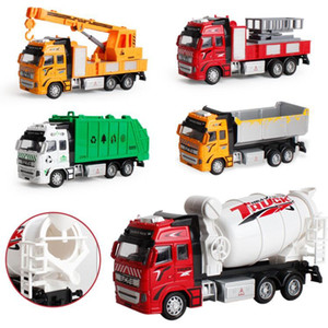 Wholesale Large size simulated recoil alloy car cement excavator truck fire sanitation car model children s toys