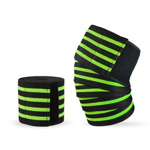 Wholesale Men Women Elastic Knee Support Durable Wear Resistant Gym Sports Wraps Weight Lifting Bandage Straps Guard Pads Ankle Leg Knee