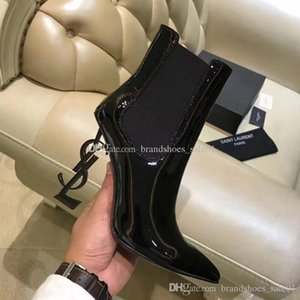 Wholesale Genuine Leather Brand New Sexy Shoes Woman Boots High heeled Shoes Pointed toe Fashion Single High heel Wedding Shoes With Box cm cm