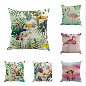 Wholesale animal print seat covers for sale - Group buy Decorative Square Pillowcase Print Sofa Animals Red Crown Crane Linen Cotton Pillow Covers Sofa Pillow Case Car Seat Cushion Cover