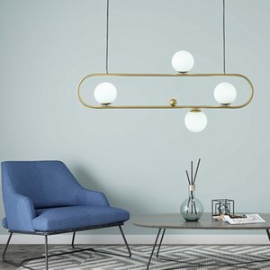 Wholesale scandinavian white pendant lights resale online - Scandinavian Restaurant Pendant Lamps Modern Minimalist led Hanging Light Bar Study Creative Pendant Light Personality Net Red led Lighting