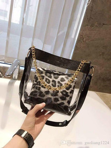Small Sweet Wind Transparent Lash French Single Shoulder Bag Personality Leopard Broadband Inclined Purses Designers Bags For Women Handbag