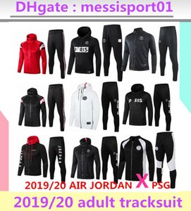 Wholesale 2019 2020 PSG jacket hoodie Survetement 1920 PSG MBAPPE football jacket air jordam soccer TRACKSUIT