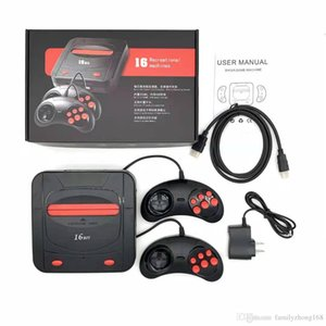 Wholesale 2019 Hot Sega Genesis MD bit compact in HDMI console dual system game console catridge rom support original game card and TF card