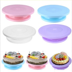 Plastic Cake Plate Turntable Rotating Anti-skid Round Cake Stand Cake Decorating Rotary Table Kitchen DIY Pan Baking Tool on Sale