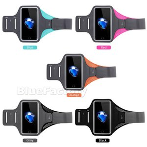 Wholesale 5 inch Lycra Ultra thin Armband GYM Jogging Sport Arm Band Waterproof Adjustable Running Belt For iPhone Samsung Universal Phone Case