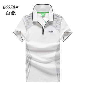 Bosses mens designer polo Casual British business polo letter print solid color polo Hugo Bos s Limited Private order polos fashion Cotton on Sale