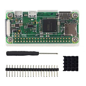 Wholesale Acrylic Case In Kit For Raspberry Pi Zero Acrylic Cover Shell Aluminum Heat Sink GPIO Pin Connector Screwdriver