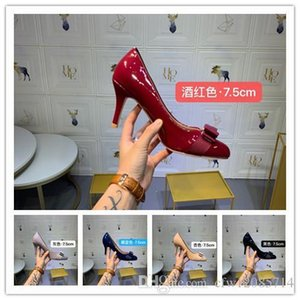 Wholesale With box Bottoms Luxury Designer High Heels Round Pointed Toe Pumps Women Wedding Dress Shoes Drop Ship Mid Heeled Shoe