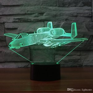 Wholesale 3D Visual Led Night Light Cross Country Warrior Usb Bedroom Bedside Colors Soldier Table Lamp Decor Sleep Lighting Kids Gifts
